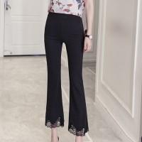Bottom Lace Bodyfitted Slimfit Bottom Trouser - Black