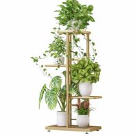 Three Tier Powder Coated Creative Plants Storage Rack - Golden