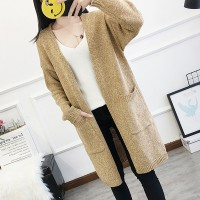 Duo Pocket Winter Wear Full Sleeves Sweater Coat - Khaki