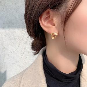 Girls Popular Matte Simple Earrings - Golden