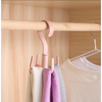 Rotatable Creative Four-Claw Household  Wardrobe Multifunctional Plastic Hanger
