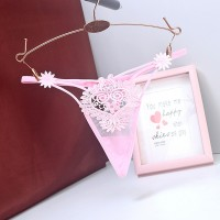 Low Waist Hollow Sexy Temptation Thong - Pink