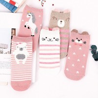 Printed Five Pieces Colorful Socks Set