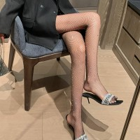 Sequins Patched See Through Slim Fit Sexy Leg Stockings