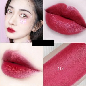 Glitter Shimmer Waterproof Long Lasting Nutritious Lipstick 21 - Burgundy
