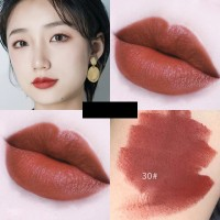 Glitter Shimmer Waterproof Long Lasting Nutritious Lipstick 30 - Wine Red