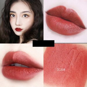 Glitter Shimmer Waterproof Long Lasting Nutritious Lipstick 316 - Red