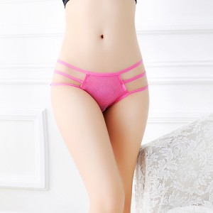 Bow Knot Breathble Ladies Briefs - Hot Pink