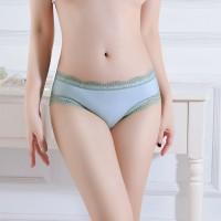 Mesh Breathable Sexy Ladies Panties - Light Green