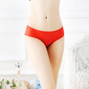 Fashionable Lace Comfortable Sexy Women Panty - Red