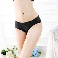 Fashionable Lace Comfortable Sexy Women Panty - Black