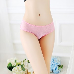 Fashionable Lace Comfortable Sexy Women Panty - Pink