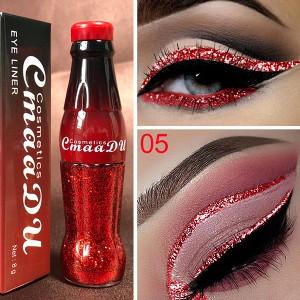 Glitter Long Lasting Waterproof Shiny Eyeliner 05 - Red