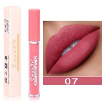 Long Lasting Waterproof Matte Liquid Lip Gloss 07 - Pink