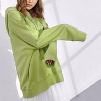 Solid Loose Wear Hoodie Top - Green