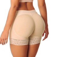 Hip Shaper Sexy Lace Patched Underwear - Apricot