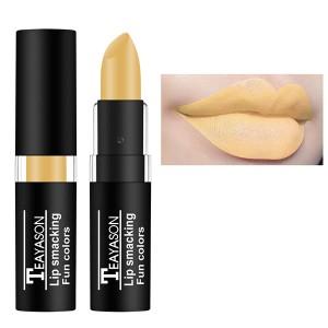 Waterproof Long Lasting Matte Lip Gloss Lipstick 02 - Yellow