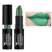 Waterproof Long Lasting Matte Lip Gloss Lipstick 12 - Green