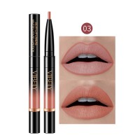 2 In 1 Matte Waterproof Long Lasting Dual Use Lip Liner 03 - Orange