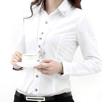 Check Prints Button Closure Fitted Formal Shirt - White