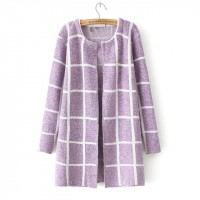 Square Printed Outwear Jacket - Purple