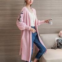 Thread Art Outwear Cardigan Top - Pink