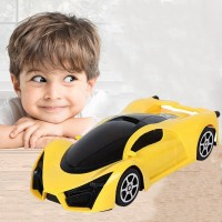 Kids Off Road Vehicle Car Toy With 3D Lights - Yellow