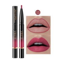 2 In 1 Matte Waterproof Long Lasting Dual Use Lip Liner 11 - Rose Red