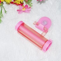 Multifunctional Creative Toothpaste Suction Cup Hanging Type Rolling - Pink