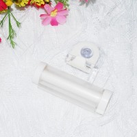 Multifunctional Creative Toothpaste Suction Cup Hanging Type Rolling - White