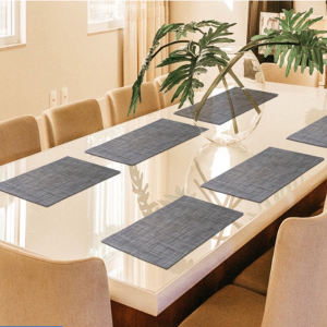 Rectangle Shape Dining Table Kitchen PVC Placemats - One Piece