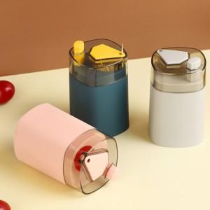 Smart Press Button Automatic Transparent Toothpick Holder - Green