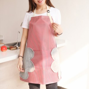 Canvas Material Printed Kitchen Essential Hot Oil Protective Safety Apron