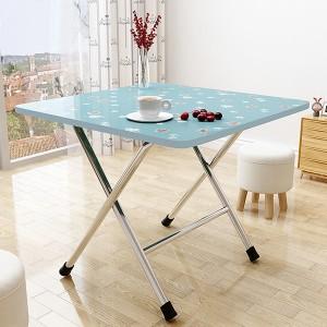 Printed Floral Foldable Living Area Multi Purpose Table - Blue