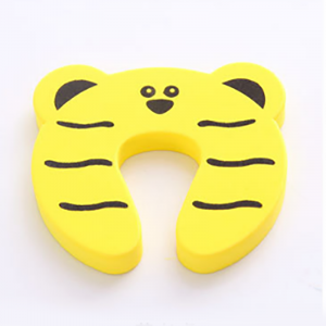 Cute Cartoon Style Door Pinch Guard EVA Protector For Kids Safety - Yellow
