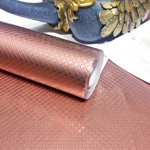 Square Texture High Temperature Resistant Oil Proof Waterproof For Home Kitchen Table Decoration - Rose Gold