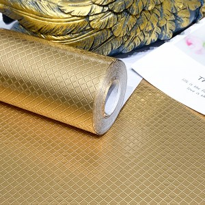 Square Texture High Temperature Resistant Oil Proof Waterproof For Home Kitchen Table Decoration - Golden