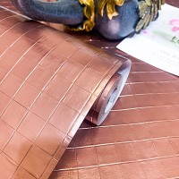 Brick Texture High Temperature Resistant Oil Proof Waterproof For Home Kitchen Table Decoration - Rose Gold