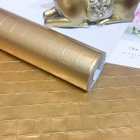Brick Texture High Temperature Resistant Oil Proof Waterproof For Home Kitchen Table Decoration - Golden