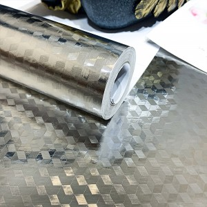 3D Texture High Temperature Resistant Oil Proof Waterproof For Home Kitchen Table Decoration - Silver