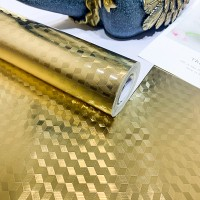 3D Texture High Temperature Resistant Oil Proof Waterproof For Home Kitchen Table Decoration - Yellow Gold