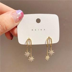 Girls Star Tassel Fashion Long Earring - Golden