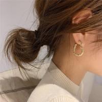 Ladies Heart Style Popular Earrings - Golden