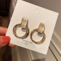 Ladies Opal Elegant Earrings - Golden
