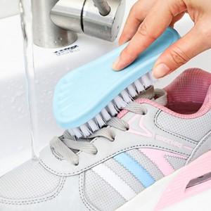 Multifunctional Cute Foot Shape Shoe Brush Laundry Brush One Piece