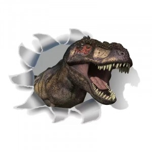 3D Decorative Wall Stickers Waterproof And Pollution Proof Toilet Stickers - Dinosaur