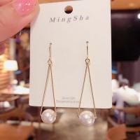 Girls Pearl Elegant Fashion Earrings - White Gold