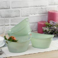 4 Pcs Creative Multi-use Quality Oval Tub Baskets