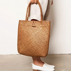 Woven High Quality Shoulder Bags - Brown