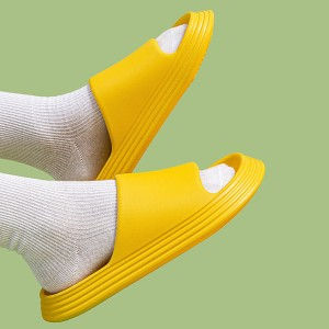Plastic Thick Bottom Casual Wear Slippers - Yellow